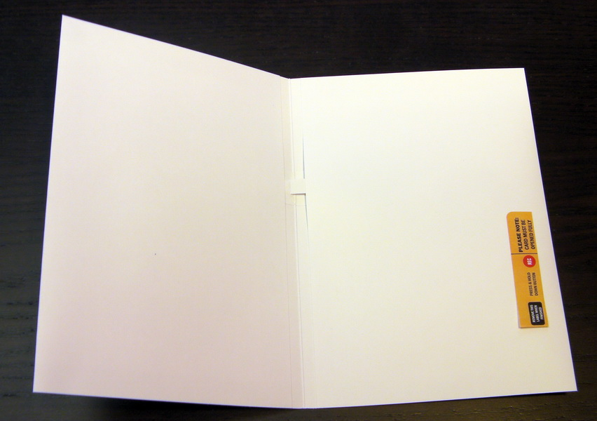 5x7 Blank Talking Greeting Card Recordable Sound Music Voice Chip